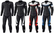 -held- Spire Menand039s Leather Suit Motorcycle Two Piece Sport Racing Summer