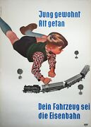 Learned Young, Original German Railway Poster, 1955