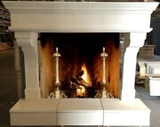 Cast Stone Fireplace Mantel Raised Hearth Andndash Authentic Old World Mantle Design