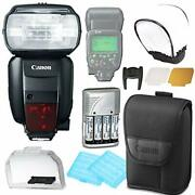 Canon Speedlite 600ex Ii-rt Flash W/rechargeable Battery And Flash Diffuser Bundle