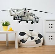 3d Helicopter Cool G72 Car Wallpaper Mural Poster Transport Wall Stickers Wendy