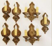 Set Of Seven Antique Art Deco Victorian Wall Sconces Rewired Beautiful
