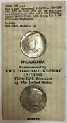 1964 Pandd Silver Kennedy Half Dollars Two-coin Mint Set Uncirculated