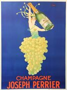 Original Vintage 1926 Champagne Poster And039champagne Joseph Perrierand039 By J Stall