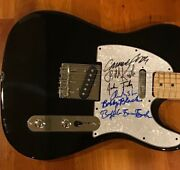 Commander Cody And His Lost Planet Airmen Signed Electric Guitar Full Band 1
