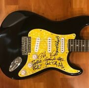 Commander Cody And His Lost Planet Airmen Signed Electric Guitar Full Band 2
