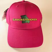 John Deere Hot Pink Ladies Cap Hat Sydenstricker Logo Snap Back New With Tags