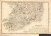 1838 Antique Map- Sduk - Ireland, South Sheet With Table Of Round Towers