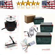 1800w 48v Brushless Motor Speed Controller Foot Pedal 4 Pcs Batteres + Charger