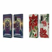 Official Christmas Mix Ornaments Leather Book Case For Samsung Phones 1