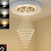 Modern Dimmable Led K9 Clear Crystal Chandelier Ceiling Lamp Fixture Lighting