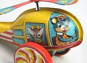 Vintage Push Tin Toy Animal Helicopter -- Modern Toys Made In Japan