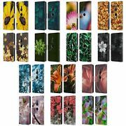 Official Pldesign Flowers And Leaves Leather Book Case For Sony Phones 1