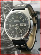 Rare Early Citizen Seven Star Parawater 100m Automatic Jumbo 43mm Original Watch