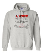 Gildan Hoodie Pullover Sweatshirt A Sister There Pick Up Down Soon Stop Laughing