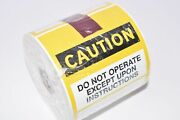 New Electromark Caution Do Not Operate Service Tag 60341-d 610005 200/rol