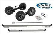 Made In Usa In The Ditch Painted Steel Speed Dolly W/ Alum Wheels. Itd2878