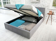 Ottoman Storage Gas Lift Up Double And King Size Fabric Bed Memory Foam Mattress