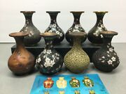 Rare Vintage Chinese CloisonnÉ With 8 Vases To Show The 8 Stage Process