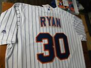 Nolan Ryan 30 Ny Mets Majestic Cool Base Home Jersey Plus 4 Free Vintage Cards
