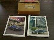 Nos Oem Ford 1979 Mercury Cougar + Marquis Show Room Brochures Books Lot