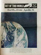 Liverpool Echo Original Newspaper Supplement 1969 Man On The Moon Front Cover