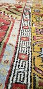 Beautiful 1930and039s Antique Lambs Wool Pilevegy Dye Inlice Prayer Rug 3and0397and039and039x5and039