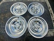 14 Rare 1963-64 Pontiac Hubcaps Wheelcovers 4 Used Oem Shiny Stainless Steel