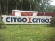Vintage Pair Of Citgo Gas Station Sign 11ft X3.5ft Plastic Advertising Man Cave