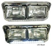 New Led Headlight And Lightstrip Pair For Kenworth T400 T600 T800 W900b W900l