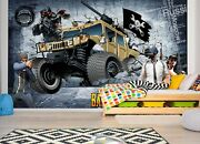3d Car Poster G212 Transport Wallpaper Mural Self-adhesive Removable Wendy