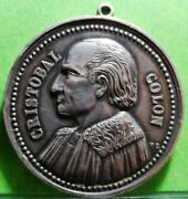 Medal Cristobal Colon 500 Years Of The Discovery Of The Americas 1992. Silver