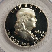 1961 Franklin Half Dollar Pcgs Proof 68 And Ogh And Under Graded