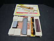 Bachman Operating Log Car With Dump Station Ho Scale 1427 New Rare Vintage Box