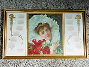 Antique 1905 Victorian Calendar The Youth's Companion Woman With Flowers