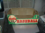 1954 Topps Gum Co. Baseball Card Empty Display Box 1 Cent Bottom Only Tough