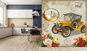 3d Retro Car Poster G375 Transport Wallpaper Mural Self-adhesive Removable Wendy