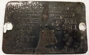 1957 57 Chevrolet Chevy 150 2 Door Sedan One Fifty Tag Data Plate Ag 3891 Oem