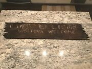 Ww2 Wwii Usmc Us Navy Camp Elliot Wooden Sign Visitors Welcome. Marines Usn