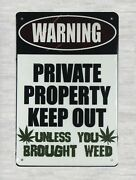 Warning Private Property Keep Out Tin Metal Sign Cheap Reproductions