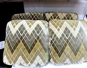 Pillows 4 Sofa Large High End Chenille Soft Taupe Bronze Tans W Diamond Pattern
