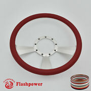14and039and039 Billet Steering Wheels Red Half Wrap Muscle Car Chevrolet Camaro Gto Ford