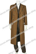 Doctor 10th Tenth David Tennant Who Cosplay Costume Wool Trench Coat Full Set