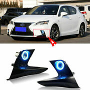 Led Cob Angel Ring Projector Lens Fog Lights Cover Fit For Lexus Ct200h 2015