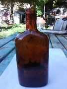 Vintage Kinsey The Unhurried Whiskey Bottle Since 1892 Amber Colored Flask
