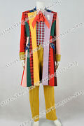 Doctor Cosplay Series Who 6th Sixth Dr Costume Trench Coat Shirt Halloween Party