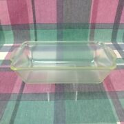 Vintage Pyrex 212 H-6g Bakeware Loaf Pan Clear Glass Is Cloudy Glass Cookware