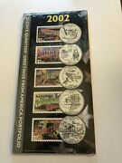 2002 Greetings From America Portfolio Quarters Coin And Stamp