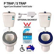 Disabled Toilet Suite Assisted Living Aged Care Ceramic Backrest S / P Trap Wels