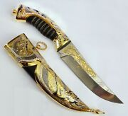 Gift Gold Plated Knife Elegant Lover Beautiful Things Collectible Knife